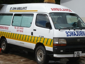 St John Zambia purchased their ambulance in 2007